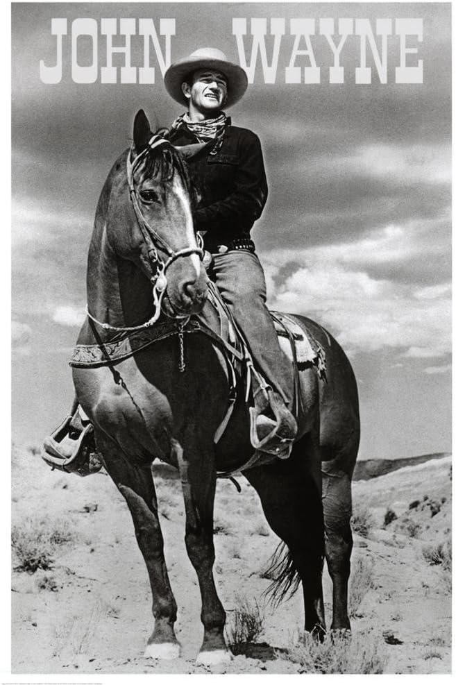 E John Wayne (On Horse) Movie Poster Print 24 x 36in