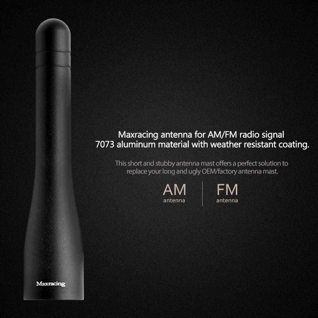 Maxracing CCL17-1014-3 Short Aluminum Antenna 3.2 Inches