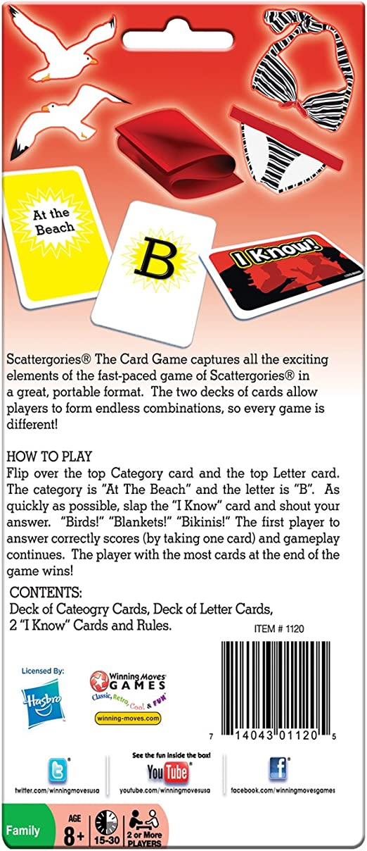 Scattergories: The Card Game: Amazon.es: Juguetes y juegos