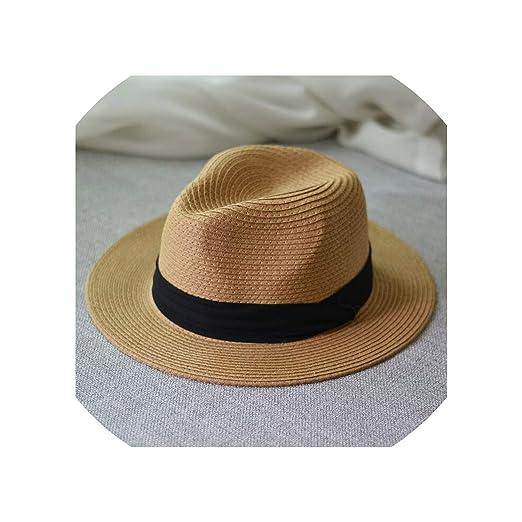 a5b915a28 2019 Summer Unisex Sun Hat Casual Vacation Straw Hat Women Wide Brim ...