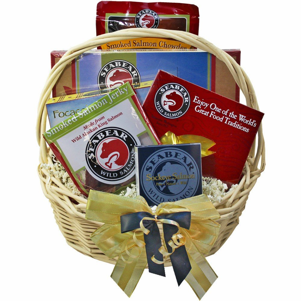 Amazon.com : Classic Smoked Salmon and Seafood Lovers Gourmet Food Gift Basket : Gourmet Seafood Gifts : Grocery & Gourmet Food