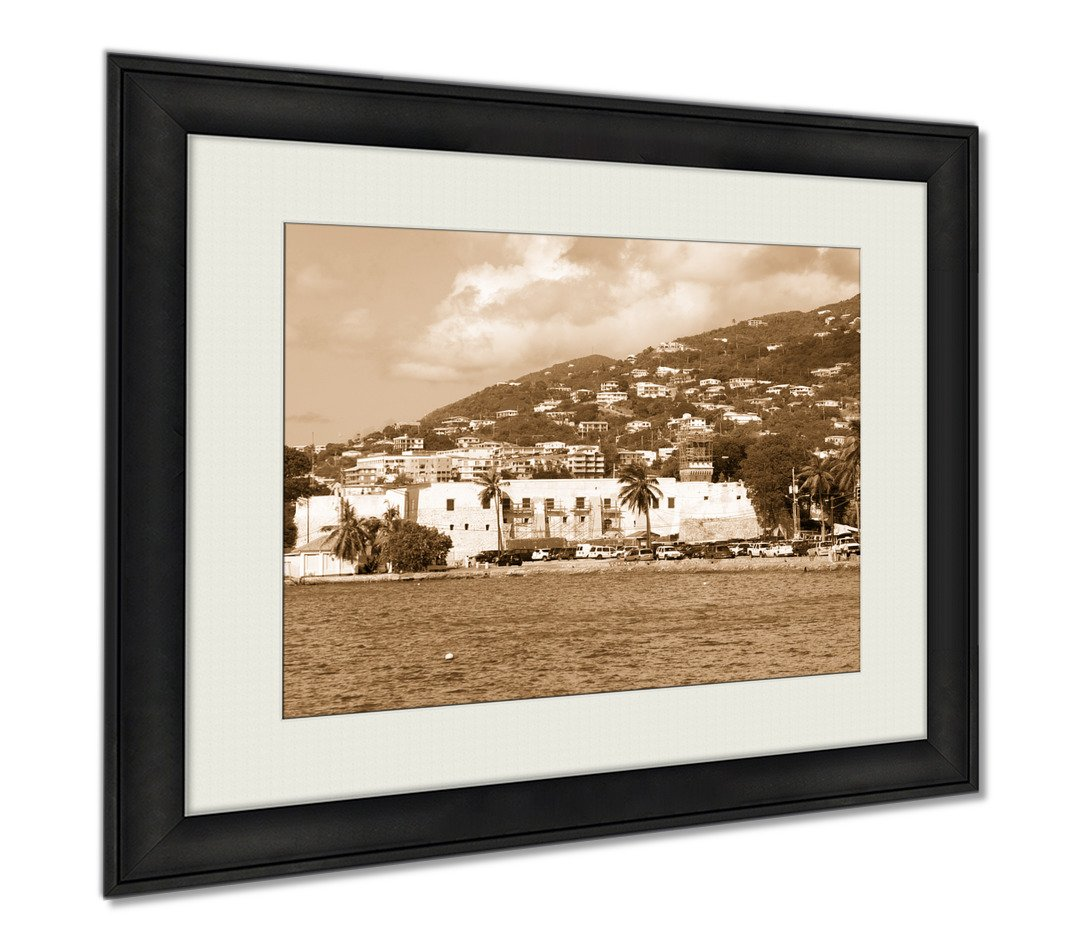 Ashley Framed Prints The Historic 17th Century Fort Christian In Charlotte Amalie Town On St Thomas, Wall Art Home Decoration, Sepia, 26x30 (frame size), AG6348022