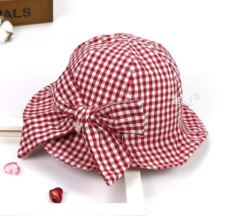 Child Bucket Hats Big Plaid Unisex Cotton Fisherman Hat Outdoor Spring Beach Boys Girls Kids Summer Child Cap