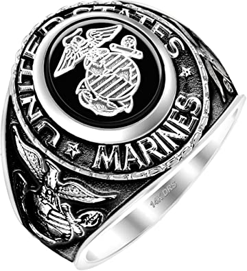 Masonic United STATES Marine Corps  925 SILVER RING