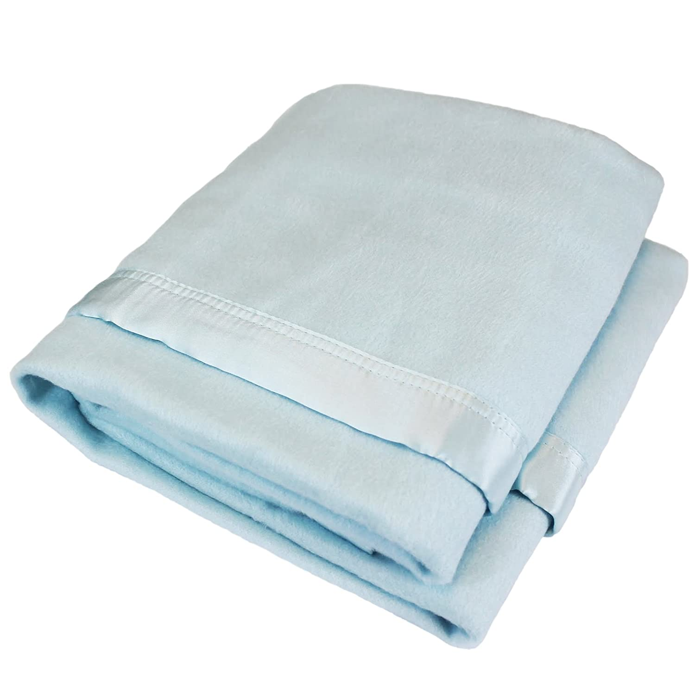 100 x 75cm Jasmine Silk Pure Bamboo Baby Blanket BLUE