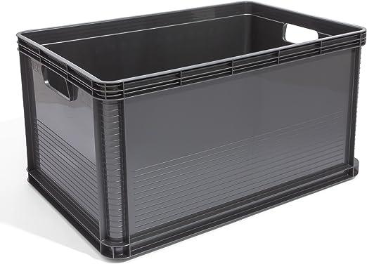 keeeper - Juego de 3 cajas de plástico (64 L), color gris: Amazon.es: Hogar