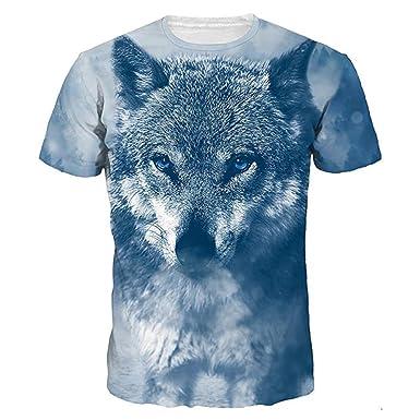 063e54b0abd333 Longra T-Shirt Herren 3D Allover-Druck T-Shirt Tier Print-Shirts Größe  Größen Herren T Shirt Spaß Motiv Tops T-Shirt Kurzarm Coole Shirts Hipster  Hemd Tops ...
