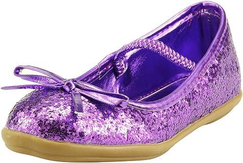 SKY HIGH Flower Girl's Glitter Purple