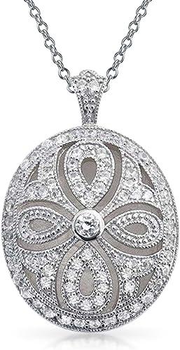 Certified 10k Gold Genuine Citrine Filigree Heart-Shaped Pendant Necklace