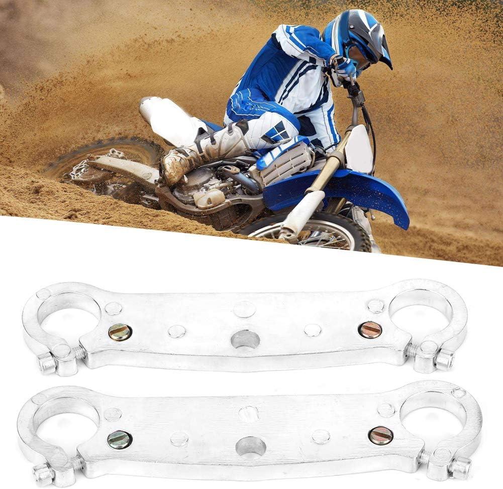 2 pi/èces 22mm//0.8in Pince de fixation de fourche avant pour 47cc 49cc Mini Motor Dirt Bike Moto Duokon Fourche de colonne de direction