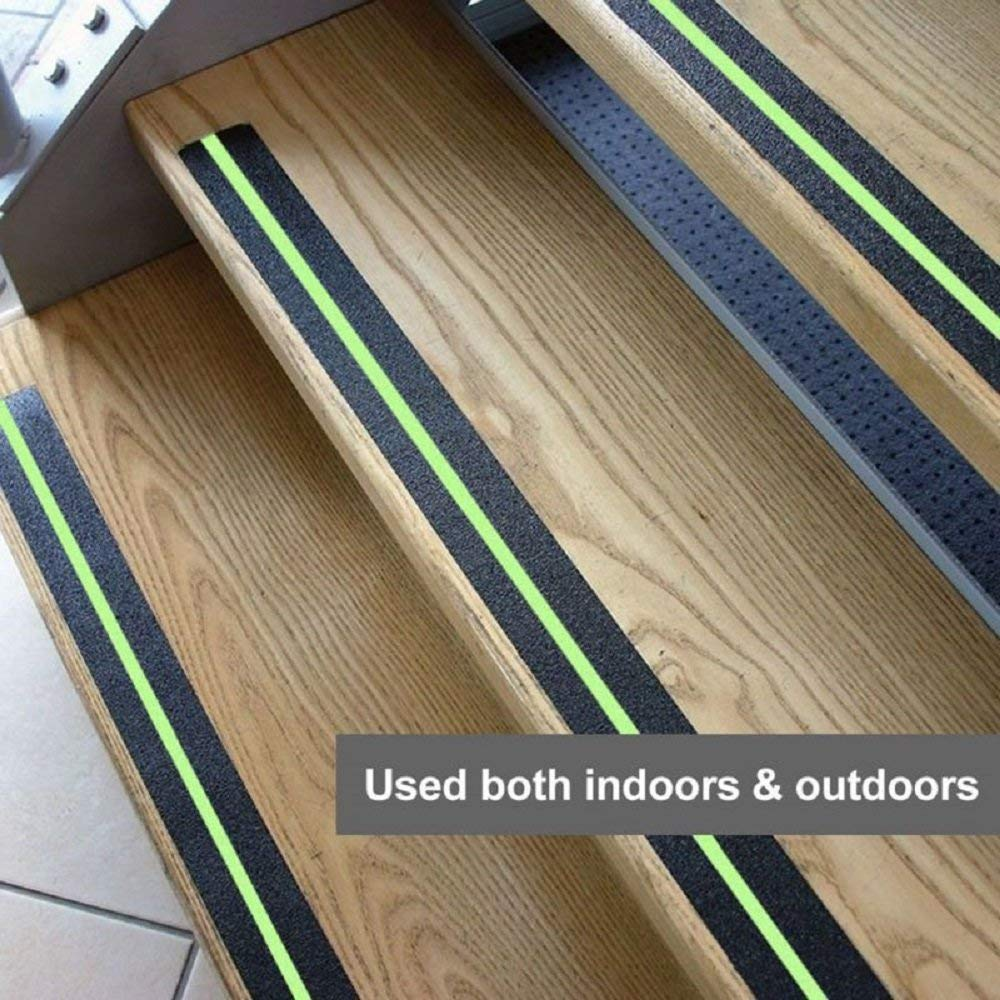 Indoor Tread Step Safety Glow in Dark Highest Traction Tape with 3M for Stairs Freeauto Anti-Slip Grip Tape 2 Pack Outdoor 16.4ft X 2Inch Safety