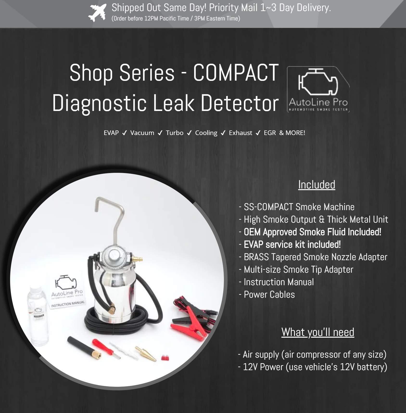 AutoLine Pro EVAP Vacuum Automotive Smoke Machine Leak Detector Diagnostic Tester - Shop Series - Compact by AutoLine Pro (Image #3)