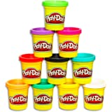 Play-Doh - Bulk Pack of Colours - 10 x 85g Tubs of Dough - Creative Kids Toys - Ages 2+
