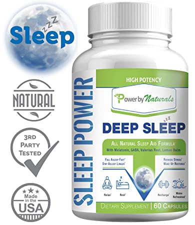 Sleep Power - zzZ Deep Sleep 💗 All Natural Sleep Aid Supplement with with Melatonin,