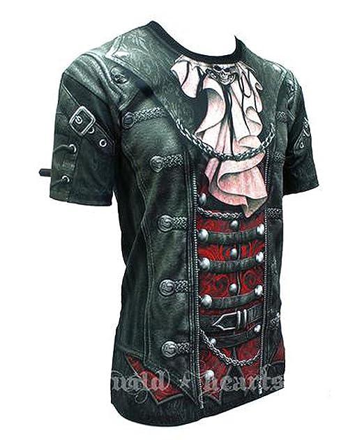 Camiseta de SPIRAL DIRECT, estilo Punk Rock Metal gótico Negro negro XXL/