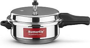 Butterfly SP-5.5L Standard Plus Wider Aluminum Pressure Cooker, 5.5-Liter,Silver,Medium