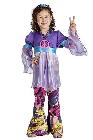 Disfraz de Hippie Niña (5-6 años): Amazon.es: Juguetes y juegos