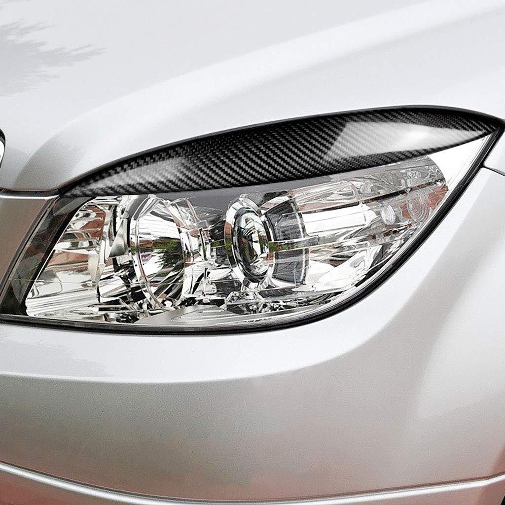 Karbonfaser-Auto-Augenbrauen-Rahmen f/ür Mercedes Benz C-Klasse W204 C180 C200 C260 C300 C350 M044