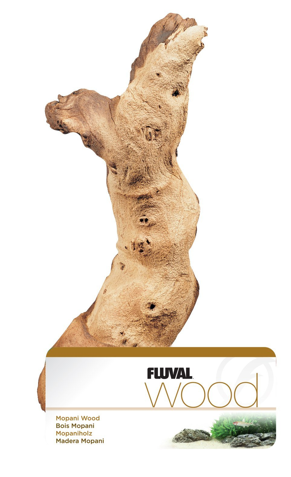 Fluval Mopani Driftwood - Large - 11.8 X 17.7 in by GEOsystem