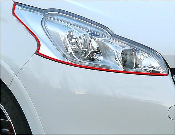Devil Eye Headlight Film 5 X Folia Stripe For Peugeot 207 Cc Sw Rc Compact Auto