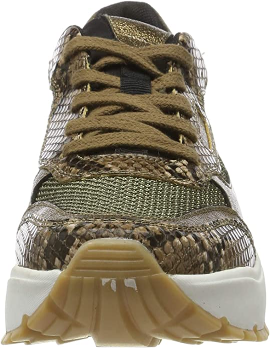 Brown US 7.5 s.Oliver Womens Low-Top Brown Snake 329