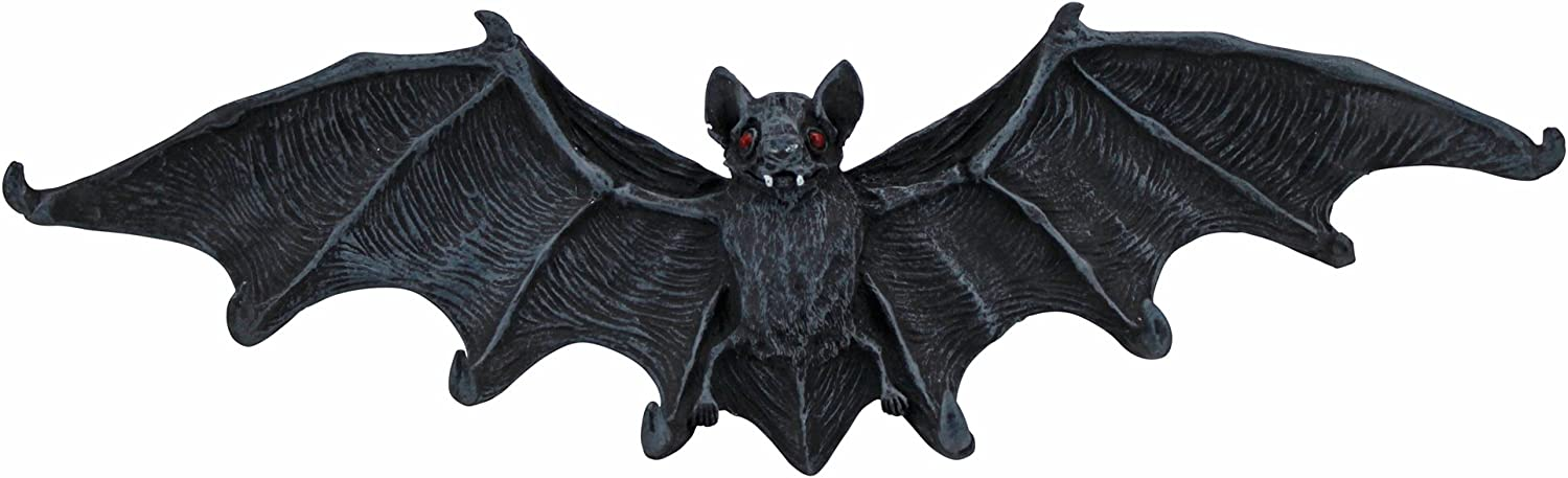 GOTHIC WINGED BAT Cast Iron DOUBLE HOOK WALL SCULPTURE