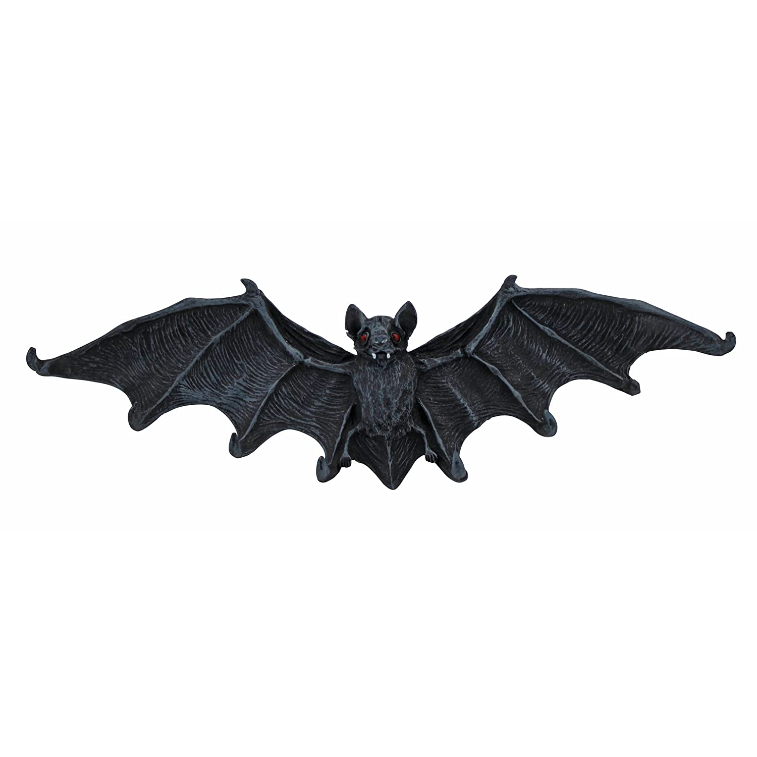 Design Toscano Key Hook Rack - Vampire Bat Key Holder Wall Sculpture: Large - Bat Figure - Halloween Bats CL5847-Parent