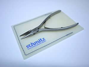 Needle Nose Pliers 4.3/4''   schmitz 4211FP00-RF   INOX- STAINLESS - STEEL   short, straight and smooth jaws   Hightech tool for professionals   Made in Germany - Solingen