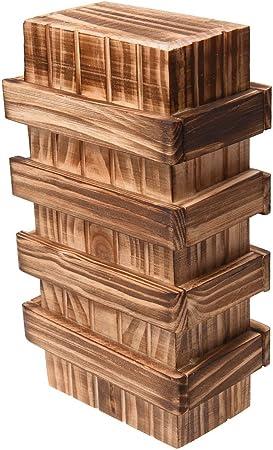 TOOGOO(R) Caja magica de madera con cajon secreto seguro adicional ...