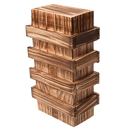 SODIAL(R) Caja magica de madera con cajon secreto seguro adicional