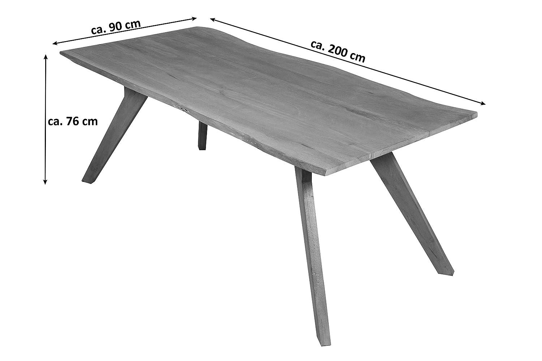 Sam Wolf Möbel Stilvoller Baumkanten Tisch Live Edge 200 X 90 Cm
