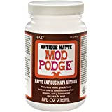 Mod Podge Waterbase Sealer, Glue and Finish (8-Ounce), CS12948 Antique Matte, 1 Pack