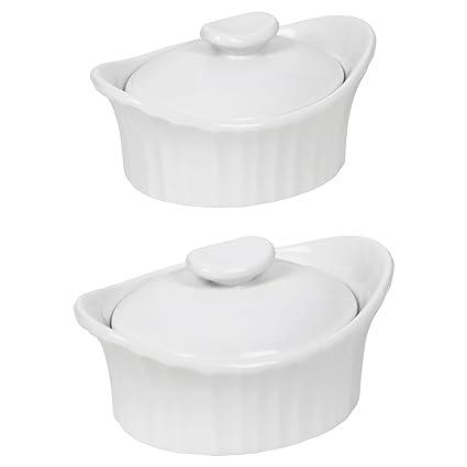 Amazoncom Corningware French White III Dessert Baker with Ceramic