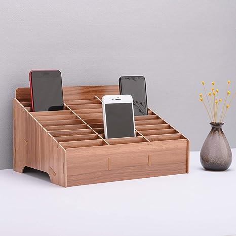 Organizador de escritorio de madera para teléfono celular ...