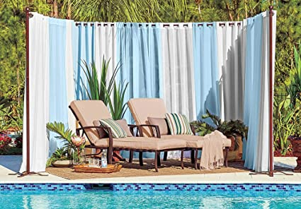 Amazon.com : Pro Space Outdoor Privacy Screen Curtains ... on ideas for backyard walkway, ideas for backyard landscape, ideas for backyard garden, ideas for backyard spa, ideas for backyard lighting, ideas for backyard patio, ideas for backyard deck, ideas for backyard design, ideas for backyard fencing, ideas for backyard pergola, ideas for backyard planter,