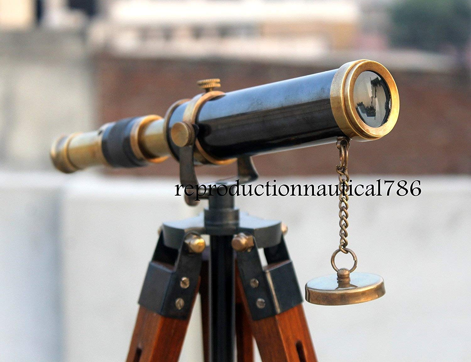 Vintage Spy Glass Working Telescope Collectible Desk Antique Telescope W/ Stand