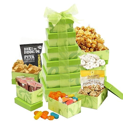 Easter Treasures Gift Basket Tower