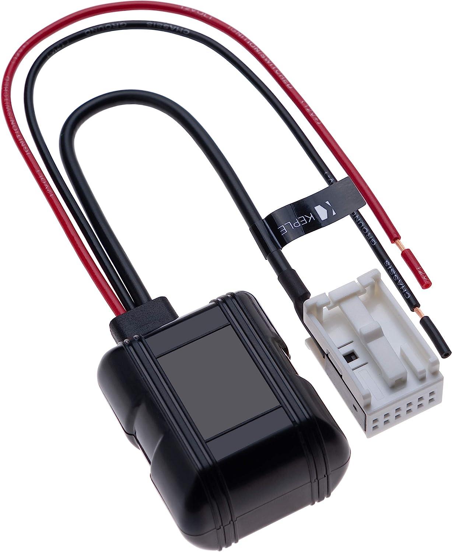 12 Pines Compatible con BMW E60 E63 E64 E83 E85 E90 E93 BMW 5 6 X3 Z4 Adaptador de Audio Bluetooth para Coche con Receptor AUX