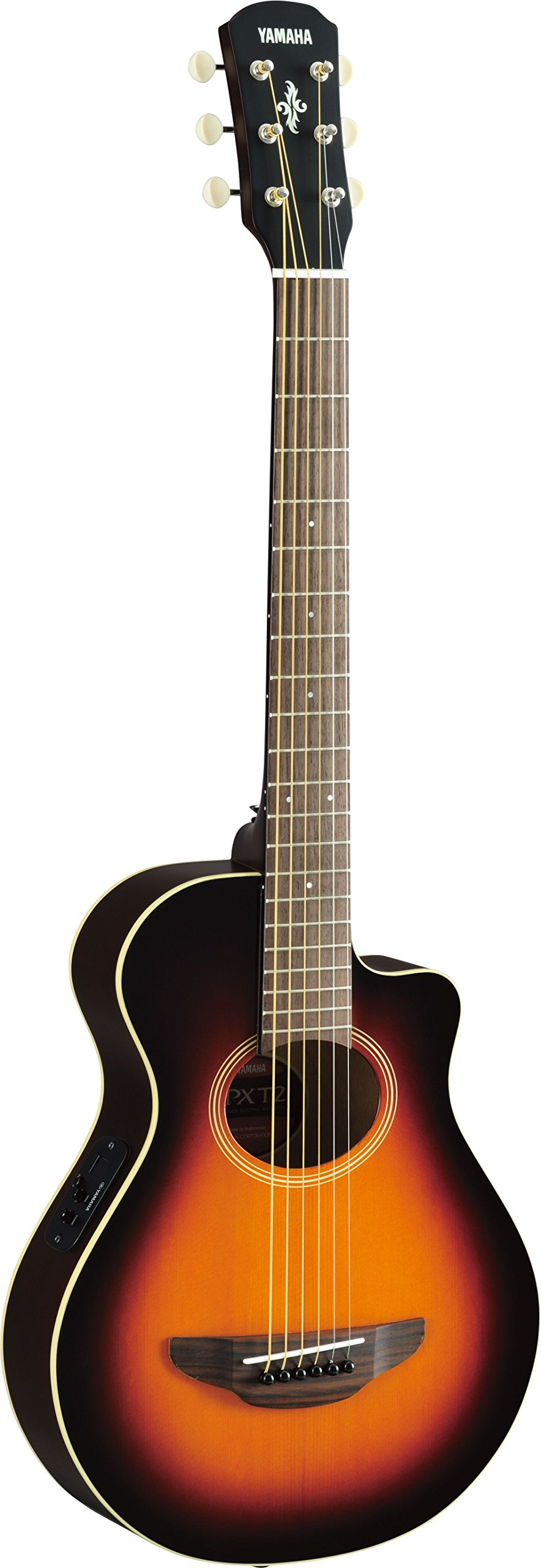 Yamaha APXT2 3/4 Thinline Acoustic-Electric Cutaway Guitar Old Violin Sunburst by YAMAHA