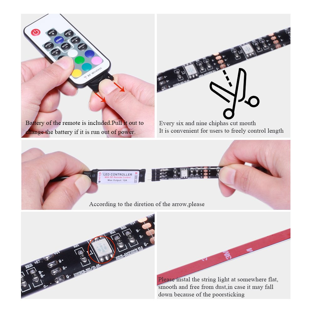 Rgb Led Controller For Strips With Rf 20 Keys Remote Control Avaway Strip Lights 5v Usb Powered Smd 5050 Light 17