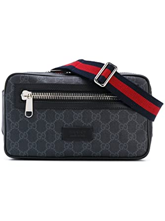 4357f8ac7c3 Gucci Men s 474293K9RRN1095 Black Leather Messenger Bag  Amazon.co.uk   Clothing