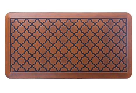 Butterfly Anti Fatigue 20 X 39 Inch Quatrefoil Kitchen Comfort Mat, Antique