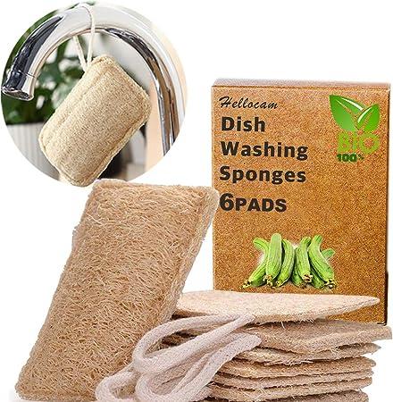 Esponjas de luffa, Esponjas orgánicas naturales para lavar platos ...