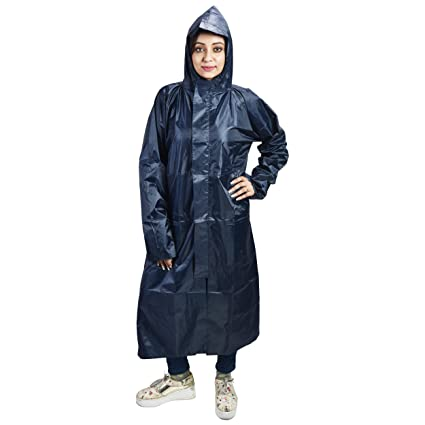 27d9ead5c New Era Women's Polyester Taping Rain Coat (Freedom-nb,Blue,XL ...