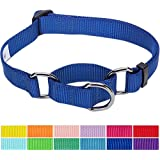 Blueberry Pet Solid Color Collar Collection, 12 Colors Classic Nylon Dog Collars, Martingale Collars & Seat Belts, 17 Colors Personalized Collars, Matching Leash Harness Available Separately