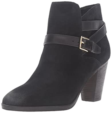 Cole Haan Women's Hayes Strap Ankle Bootie, Black Suede, ...