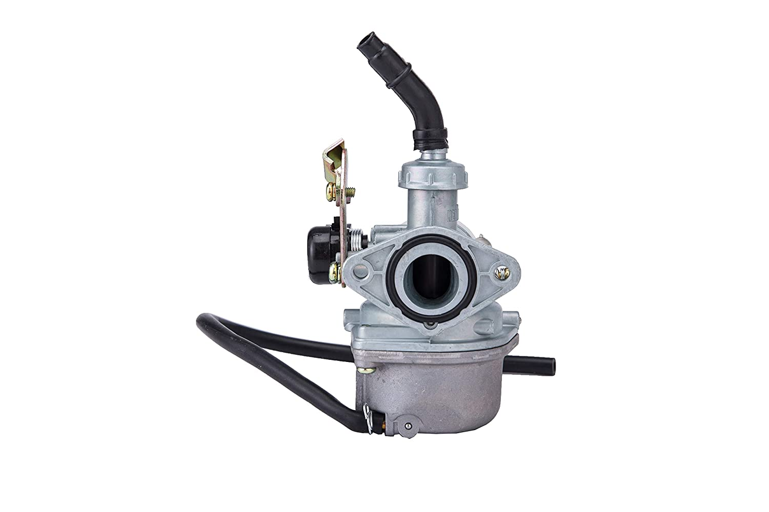 Hity Motor 19mm Cable Choke pz19 Carburetor for 50cc 70cc 80cc 90cc 110cc 125cc ATV Taotao Honda CRF with 35MM Air Filter Fuel Filter Clamp Ring Adjusting Shims and Rubber Ring