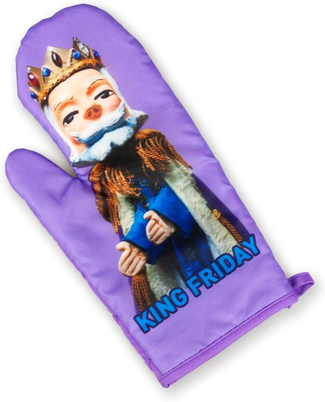 Amazon Com Mister Rogers Neighborhood King Friday Puppet Oven Mitt Tv Show Merchandise Home Kitchen