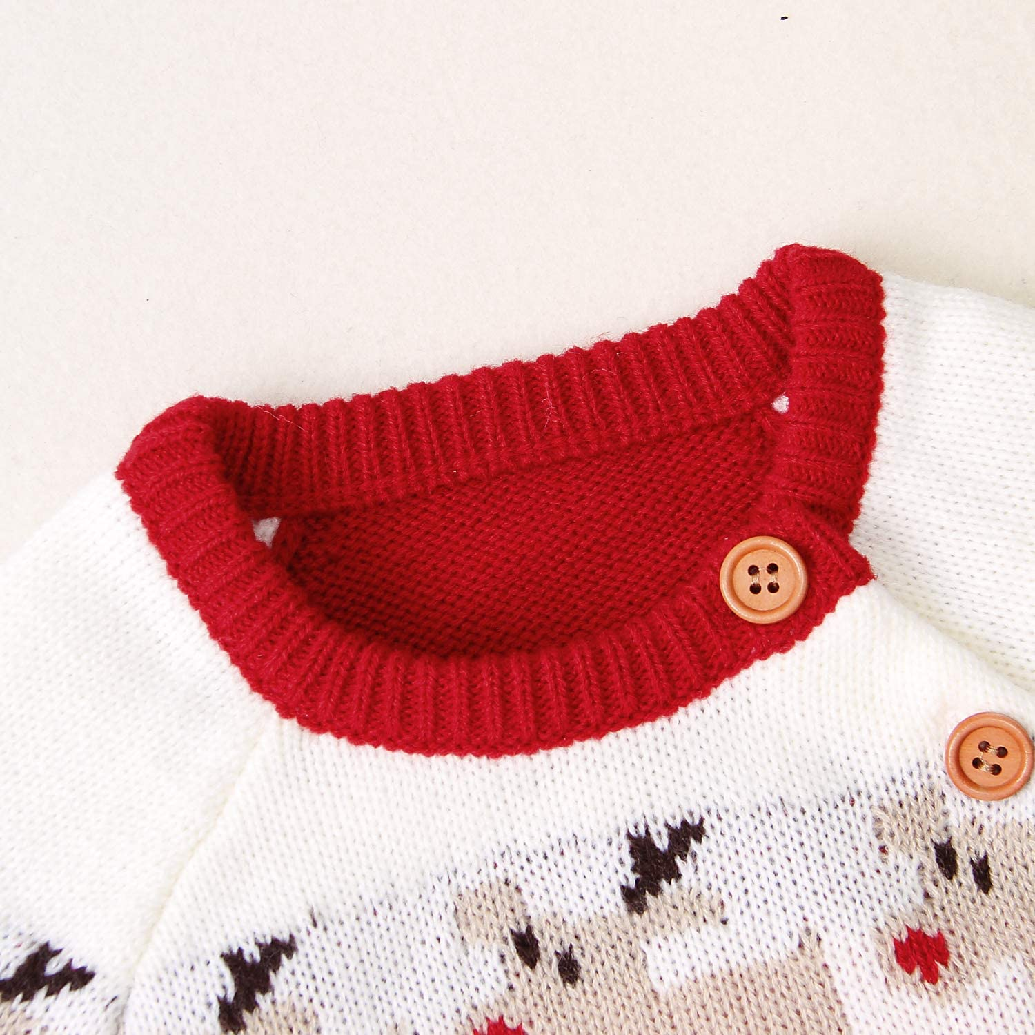 MoccyBabeLee Christmas Baby Girl Boy Clothes Long Sleeve Red Plaid Santa Rompers Newborn Elk Bodysuit Jumpsuits Outfits