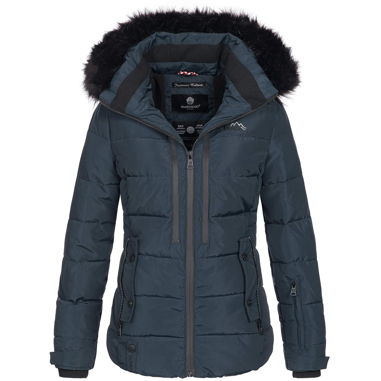 785fa086f20110 Marikoo Damen Winter Jacke Winterjacke Parka Outdoor Mantel Ski warm  gefüttert Kapuze Snowgirl XS-XXL 7-Farben: Amazon.de: Bekleidung